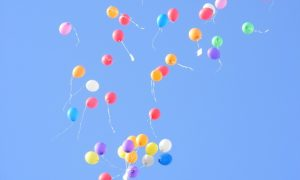 Luftballons fliegen 3